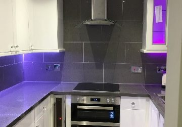 purple LED kitchen